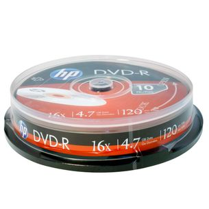 Disco-Optico-DVD-R-HP-Pino-Com-10-Unidades-4.7GB-120Min-16X