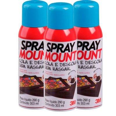 Kit-Com-3-Cola-Spray-Mount-290Grs-Reposicionavel