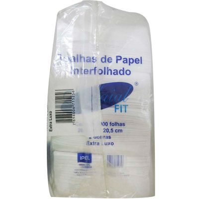 Papel-Toalha-Interfolha-2-Dobras-100--Celulose-205-X-205-C1000-Fit